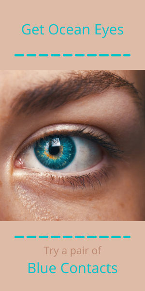 Channel creativity by wearing blue contacts